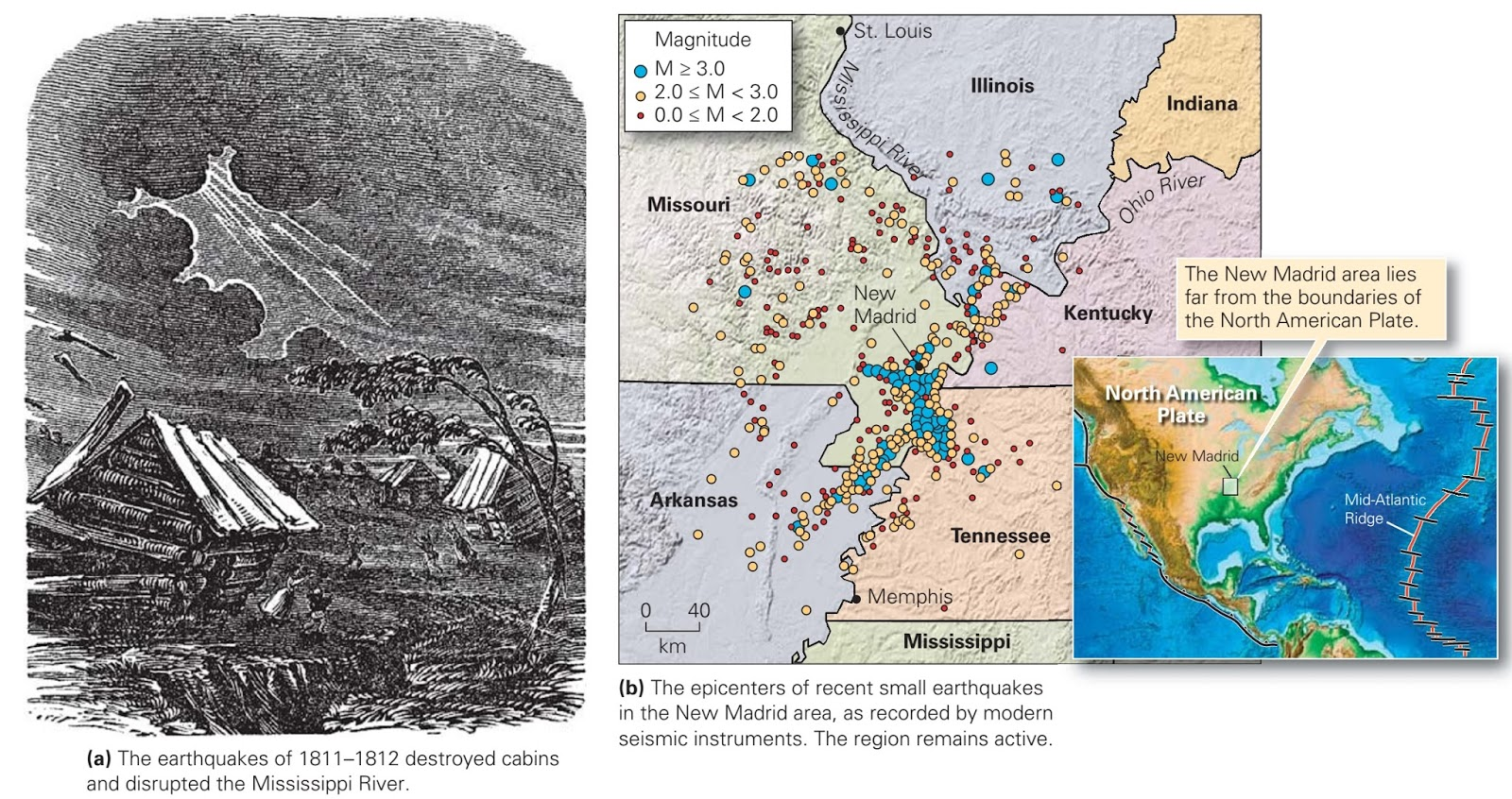 Where And Why Do Earthquakes Occur  Learning Geology - Map of us after new madrid earthquake