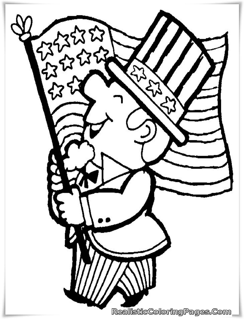 Fourth of july coloring pages realistic coloring pages for Coloring page of the american flag