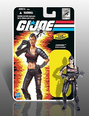 San Diego Comic-Con 2011 Exclusive Modern All Black Zarana Limited Edition G.I. Joe Action Figure