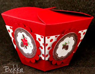 Take Out Style Box from Stampin' Up!'s Petal Cone Die
