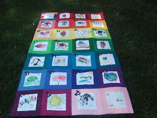 A Moment of Whimsy: Kindergarten Handprint ABC Quilt