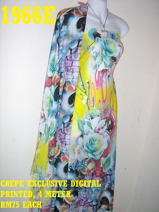 CDP 1966E: CREPE EXCLUSIVE DIGITAL PRINTED, 4 METER
