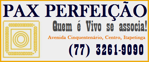 PAX PERFEIÇÃO - QUEM É VIVO SE ASSOCIA!