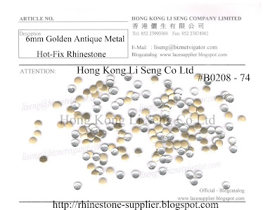 Golden Antique Metal Hot-Fix Rhinestone Supplier - Hong Kong Li Seng Co Ltd