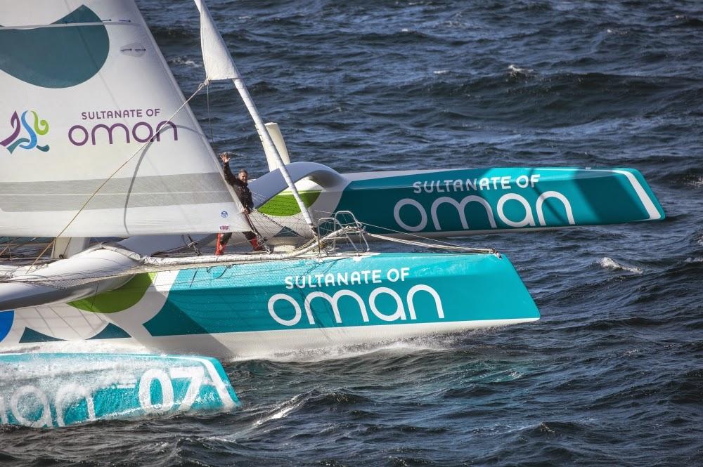 Cap sur Saint Malo pour Sidney Gavignet et Oman Sail.
