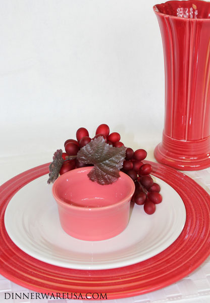 A Romantic Fiestaware setting - Scarlet Fiesta White Fiesta and Flamingo Fiesta Use neutrals like black and white to break up similar colors and make them ... & Dr. Dinnerware: Flamingo Fiesta Pictures - Our Favorite Fiestaware ...