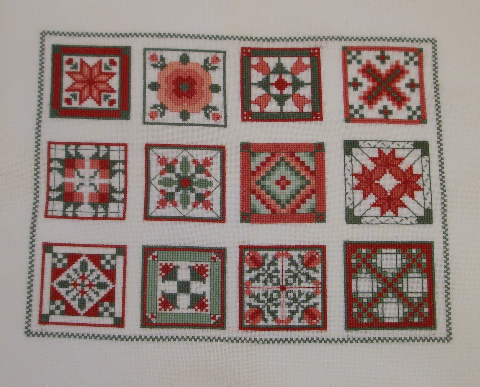 Quilt Patterns Cross Stitch : Everyday Art Work: Favorite Quilt Squares Cross Stitch