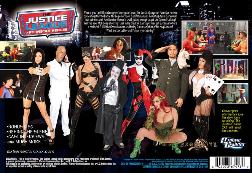 liga justicia porno: