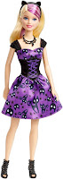 Moonlight Halloween Barbie doll 2015 kitty cat witch costume dress purple