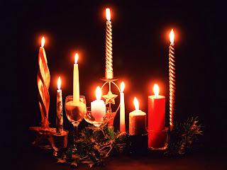 christmas night candle lights