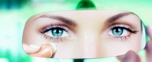 ojos bonitos con contorno de ojos