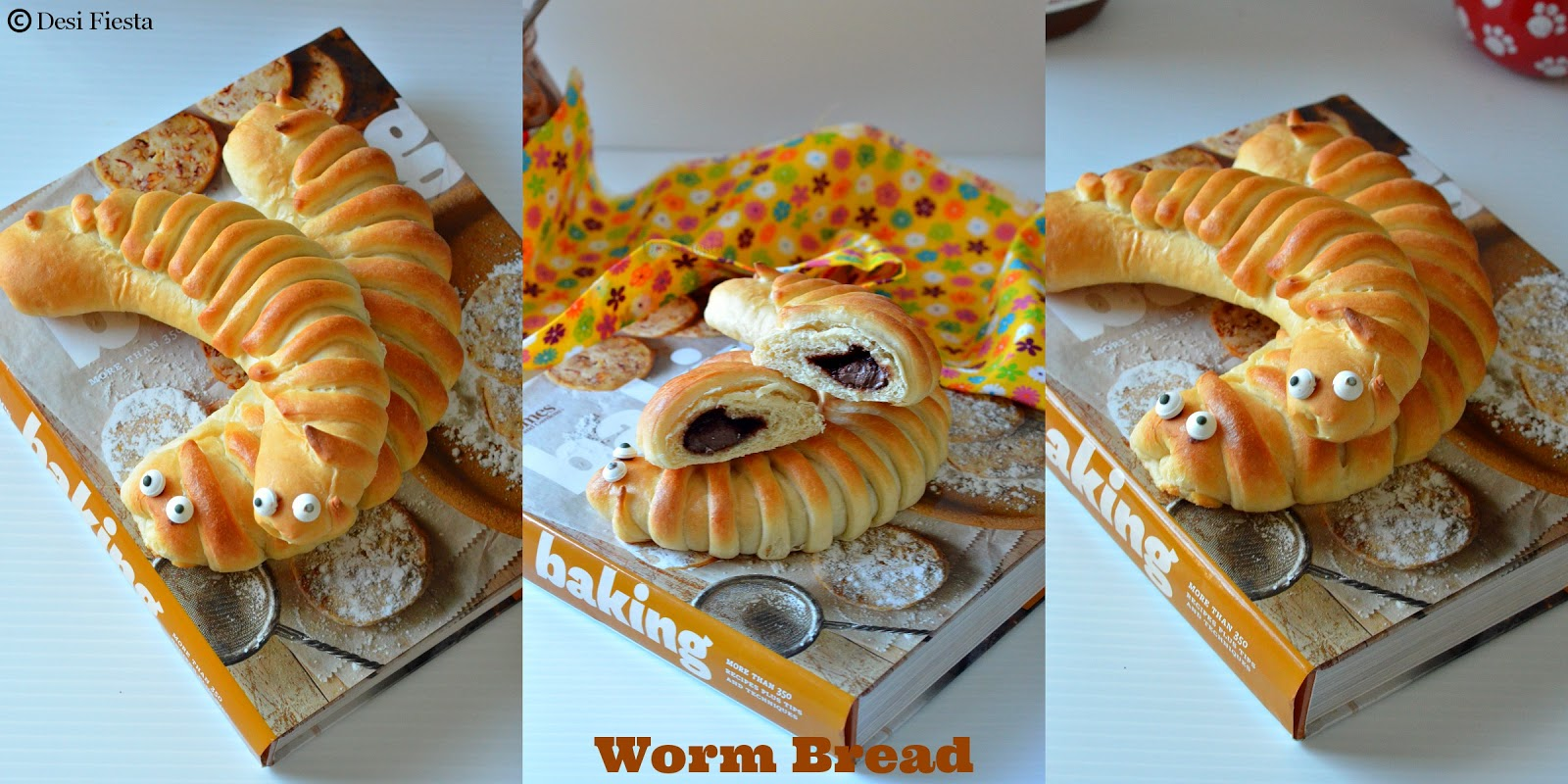 Worm shaped Bread