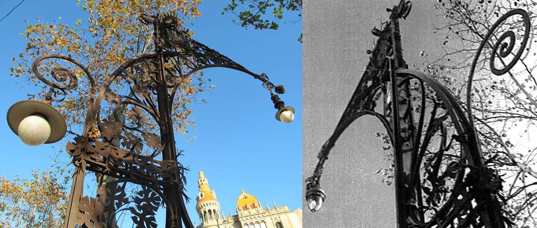 FANALS MODERNISTES MODIFICATS. Passeig de Gràcia. (1950's-1985)