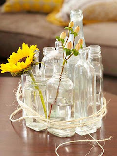 Reciclando vidros e garrafas para usar na decoração de casas e festas