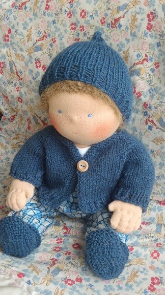 Free Knitted Doll Pattern : Nestled Under Rainbows: Free Waldorf Doll Clothes Knitting Patterns