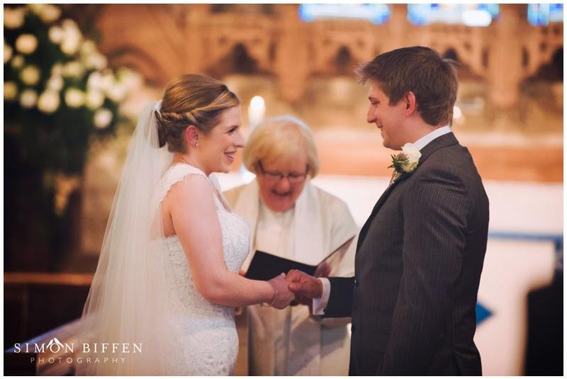 Wedding ceremony St Mary's Church Newton Solney