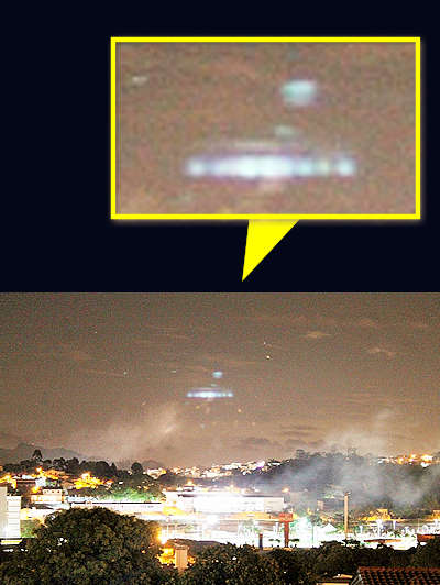 Motorist Photographs UFO Over Itatiba, Brazil 12-24-14