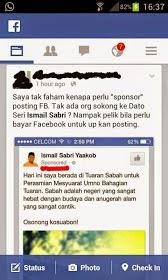 Siapa Mempersoalkan Akaun FB Menteri Ini Manusia Macam Nii Pun Ada Ismail Sabri60 DSIS