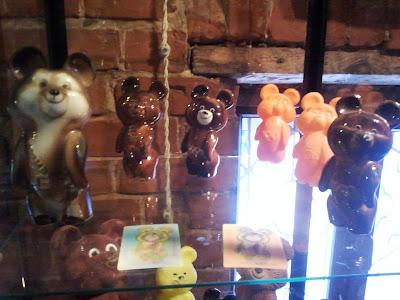 Олимпийские мишки из керамики