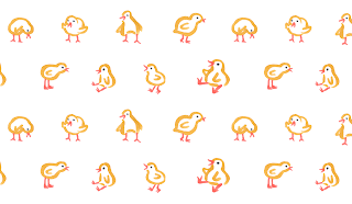 Little chicks pattern - Jen Haugan Animation & Illustration