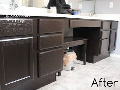 The Creative Cubby: DIY Gel Stain Cabinet Makeover