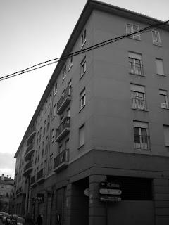 Detalle fachada moderna Calatayud