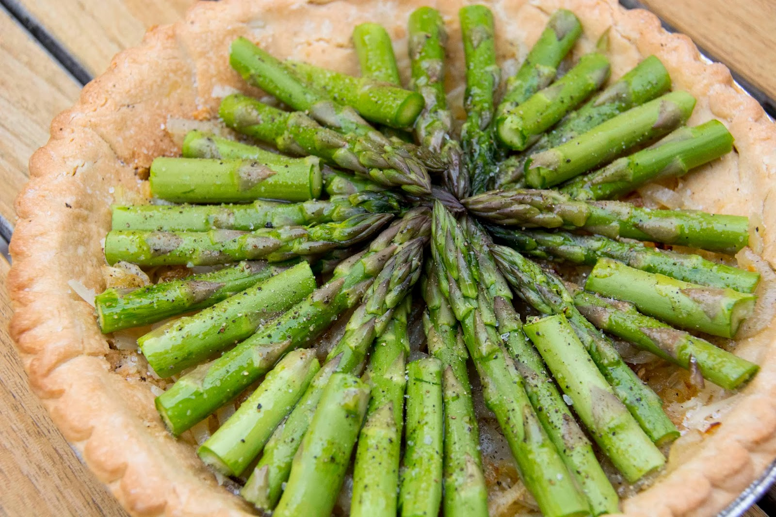 Aesthetic Nest: Cooking: Asparagus Gruyere Tart (Recipe)
