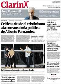 15/07/2020      ARGENTINA  UNA  PRIMERA PÁGINA DE LA PRENSA