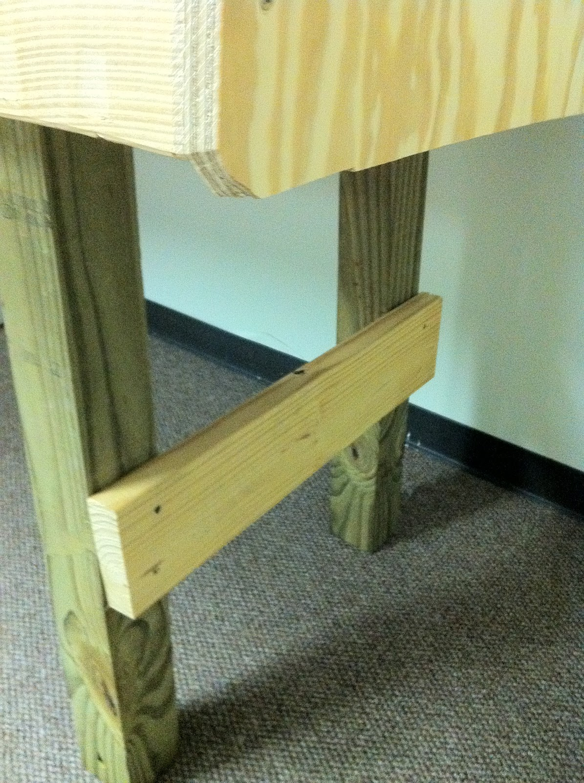 Screw These Into The Plywood On Top, Make Sure It Is Flush With The Side.  Use 12 Of Your 2 Inch Wood Screws. You Will Leave One Foot On Each Side For  The ...
