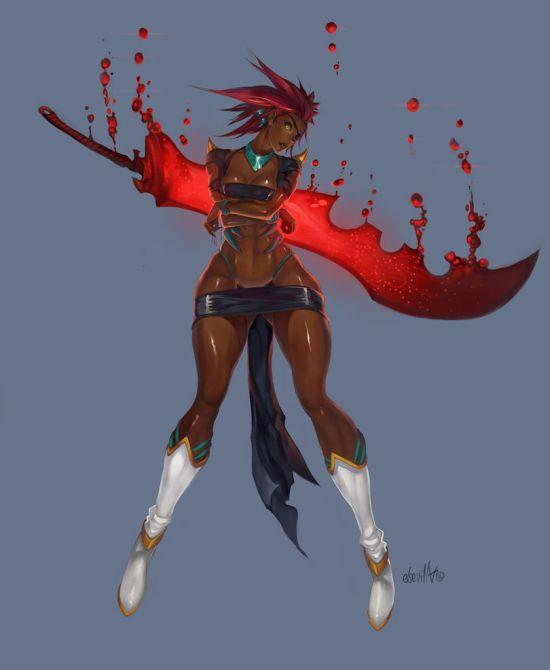 Hector Sevilla deviantart ilustrações mulheres sensuais fantasia estilo anime mangá Negócio de sangue