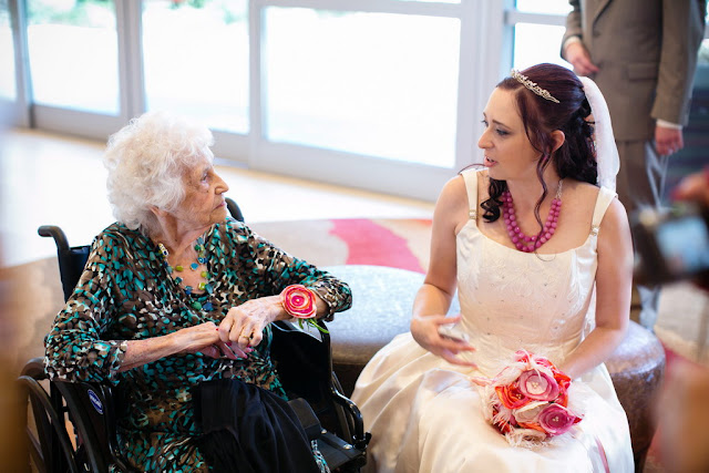 Bride with Grandmother - Disneyland Hotel Wedding