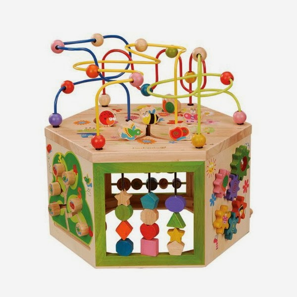 Toddlers Wooden Activity Cube By EverEarth