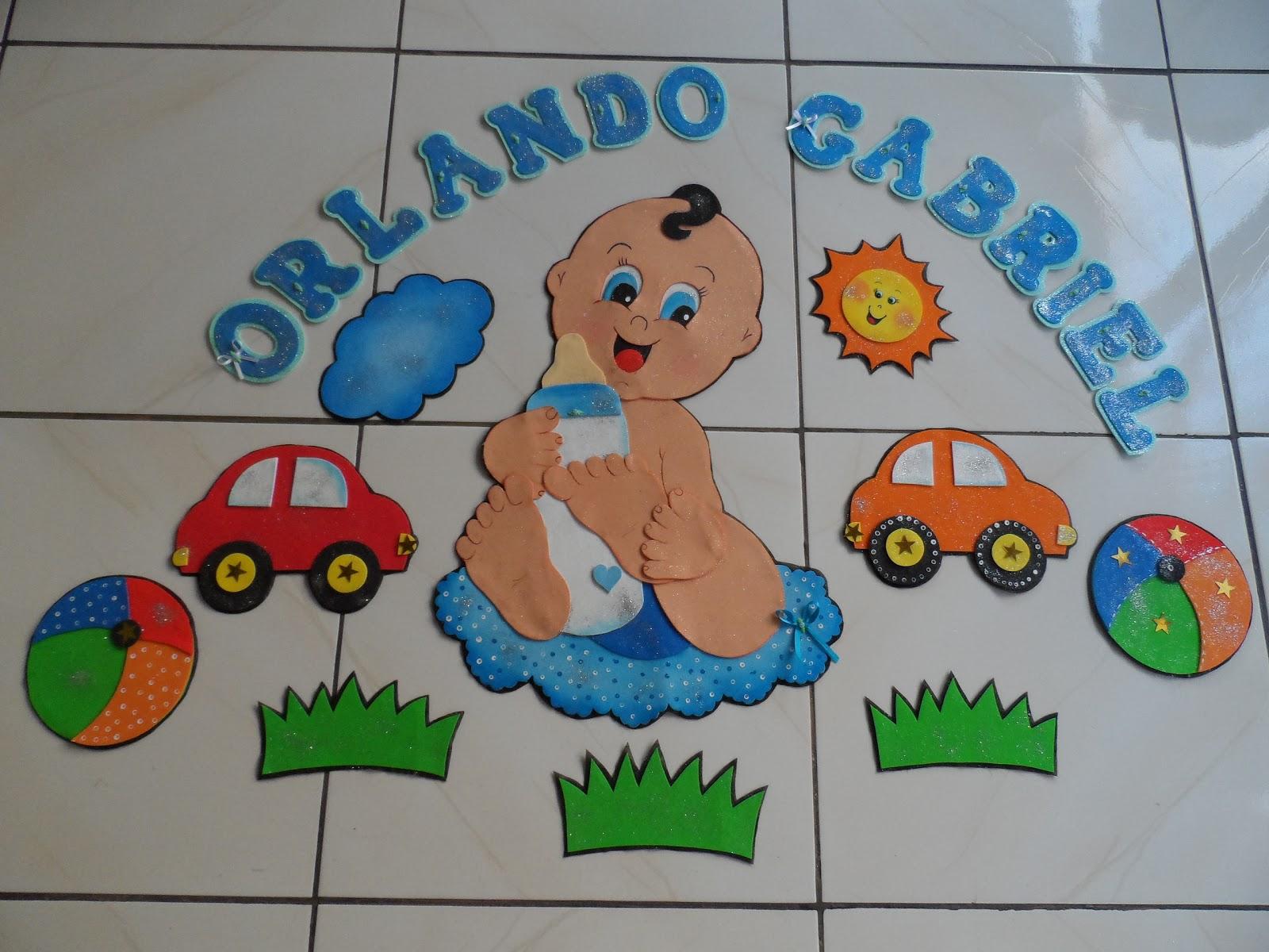 Decoração para quarto de bebês em E.V.A