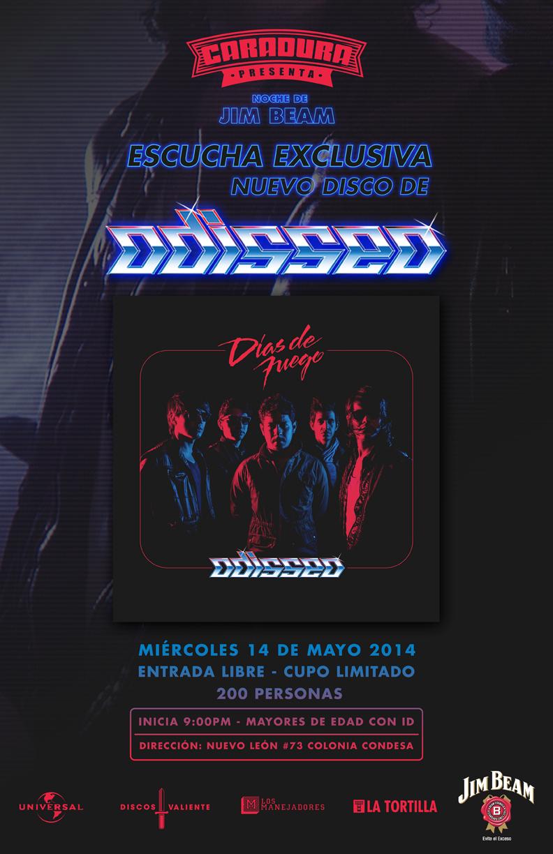 Escucha en exclusiva el nuevo disco de ODISSEO en el Caradura
