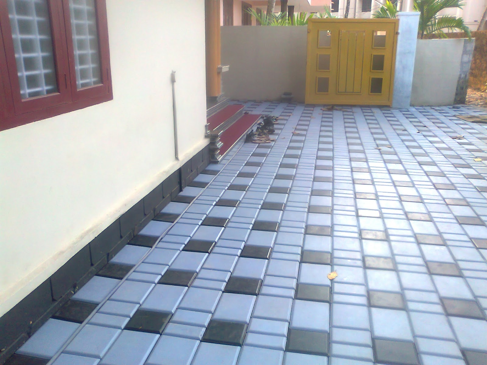 Build a building exterior tile interlock for Home floor tiles design