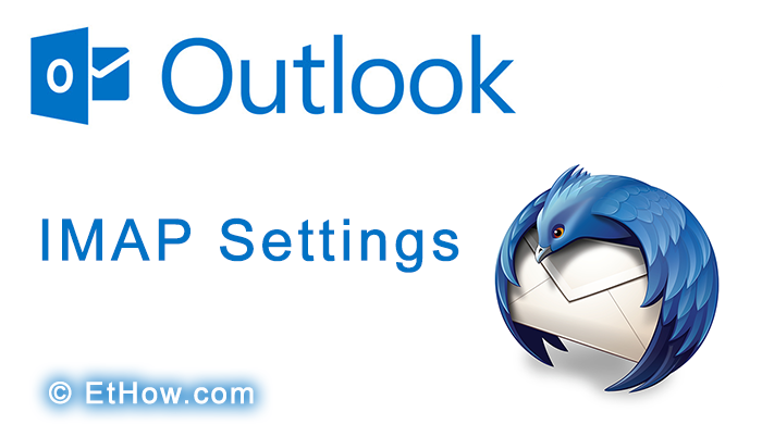 configure thunderbird for IMAP of outlook