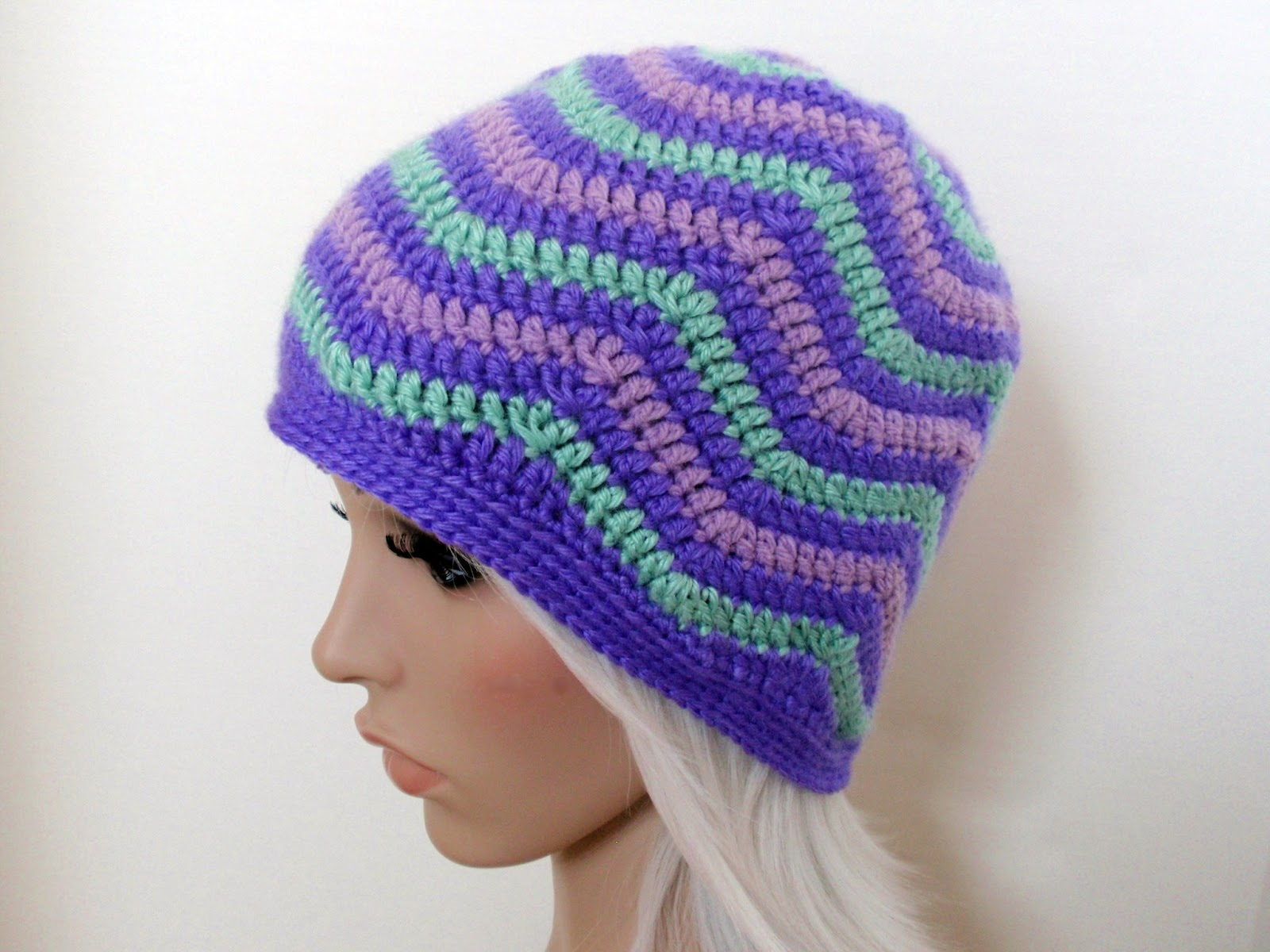 Zig Zag Hat Knitting Pattern : Jenn Likes Yarn - The Knit and Crochet Blog: spring themed ...
