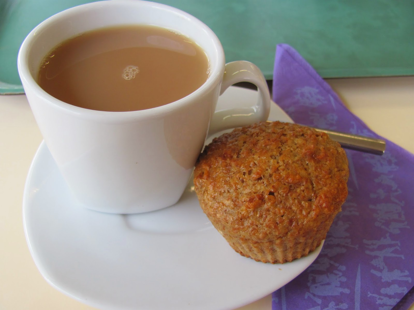 Tea and Smuggled Bran Muffin