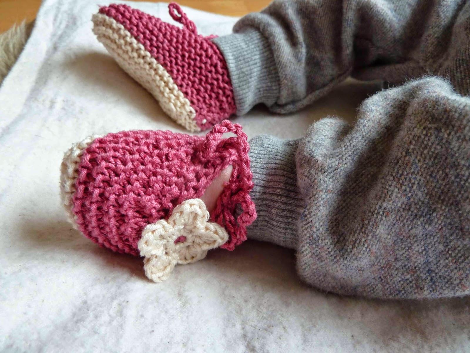 strickmuster babyschuhe