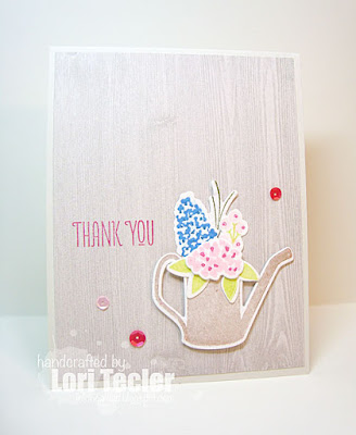 Fresh Cut Floral Thank You card-designed by Lori Tecler/Inking Aloud stamps and dies from WPlus9