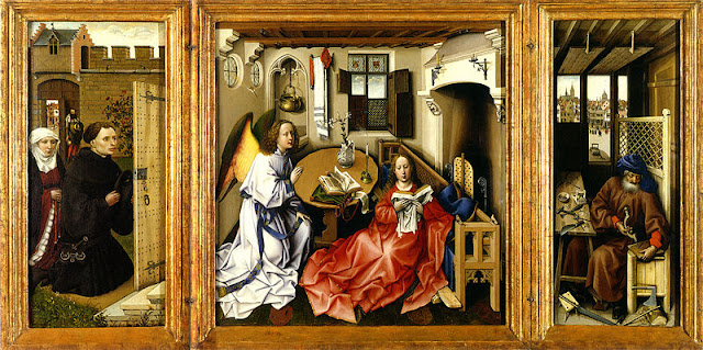 mérode altarpiece triptych of the annunciation
