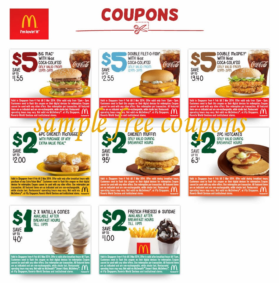 Mcdonalds bogo coupons