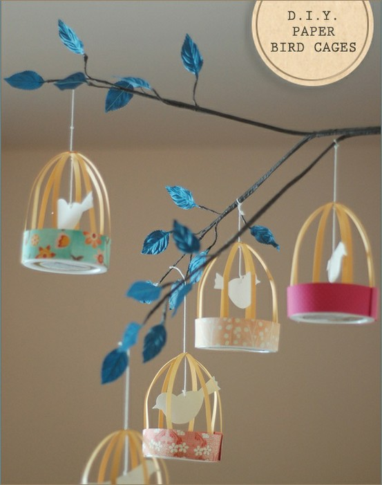 diy paper bird cages the refab diaries. Black Bedroom Furniture Sets. Home Design Ideas