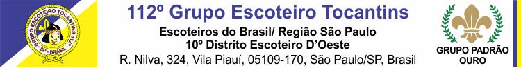 Grupo Escoteiro Tocantins - 112SP - Escoteiros do Brasil