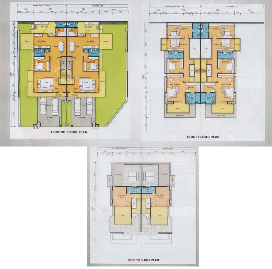 Tiara horizonhills floor plans cluster homes the for Cluster house floor plan
