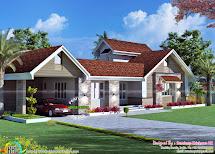 3 Bhk Residence Kottayam - Kerala Home Design And Floor