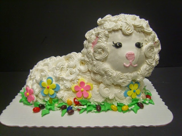 Easter lamb cake from Oakmont Bakery