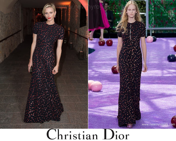 Her Serene Highness Princess Charlene of Monaco in Christian Dior Couture Dress