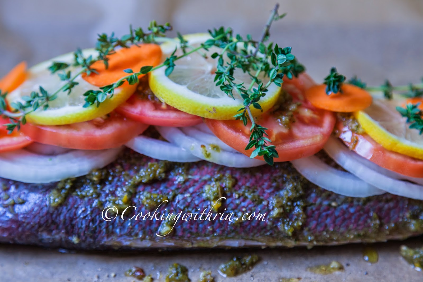 I always finish with another dusting of salt and pepper for Cooking fish in parchment paper