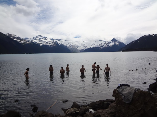 Swimming in Garibaldi Lake
